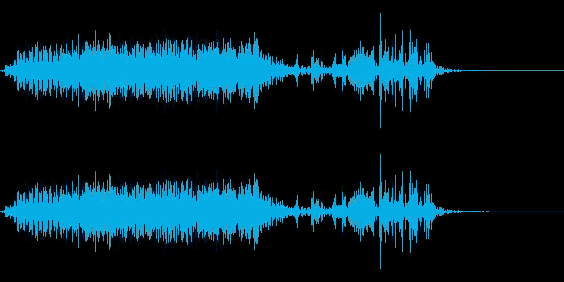 【生録音】本のページをめくる音 3の再生済みの波形