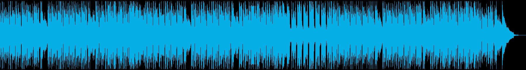 穏やかな日常のシーンをイメージした曲の再生済みの波形
