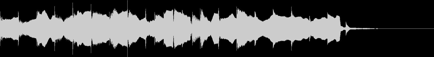のどかなゆったりした音の未再生の波形