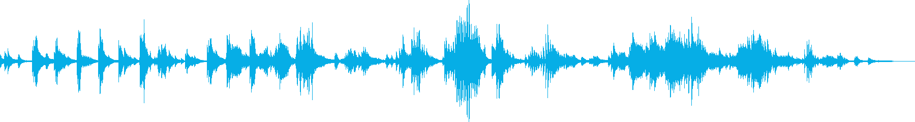 別れのピアノ曲(悲しい・切ない・後悔)の再生済みの波形