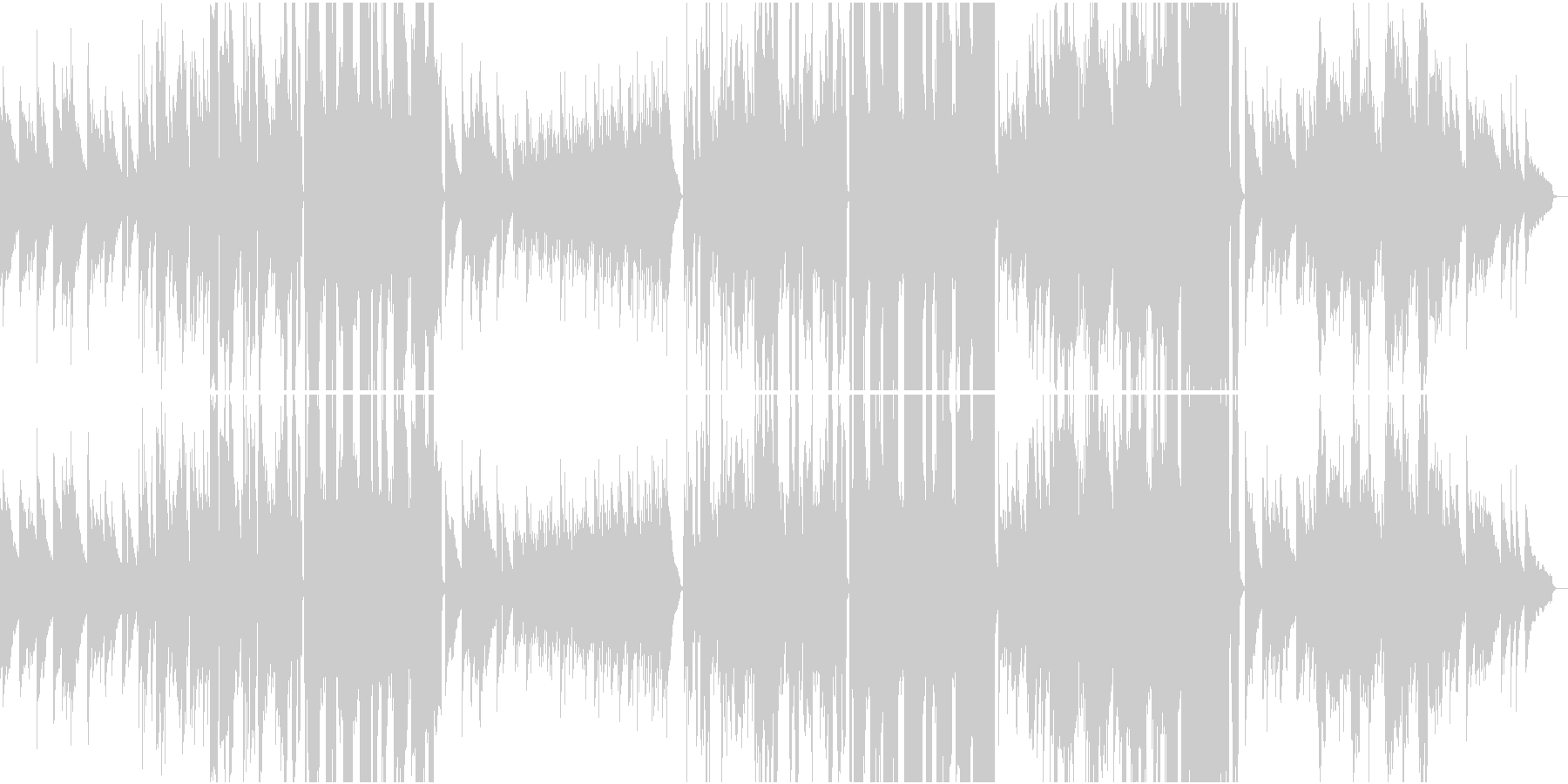 ピアノの旋律が印象的な哀愁のバラードの未再生の波形