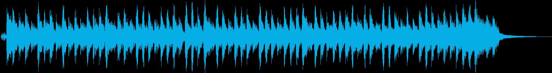 オールディーズ風のピアノロックの再生済みの波形