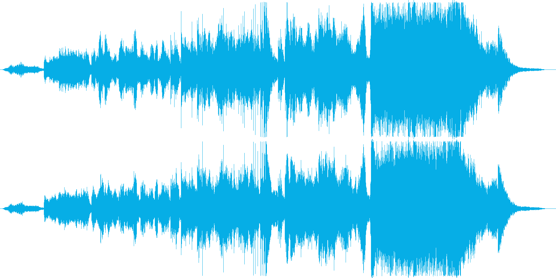 幻想的なイメージのBGMの再生済みの波形