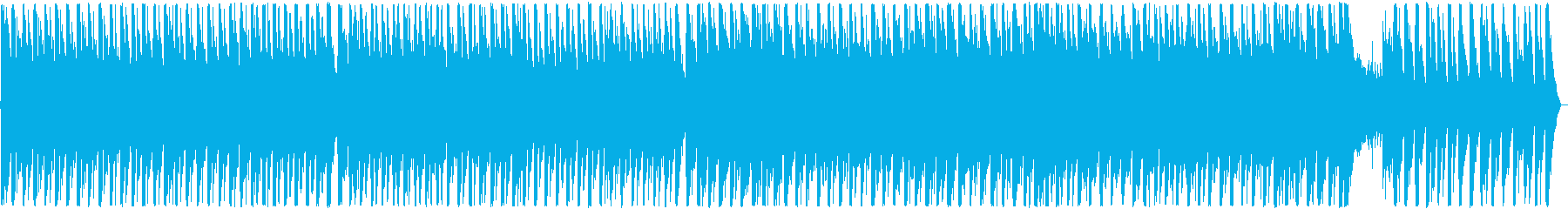 愉快でハイテンポなテクノポップ ループ可の再生済みの波形