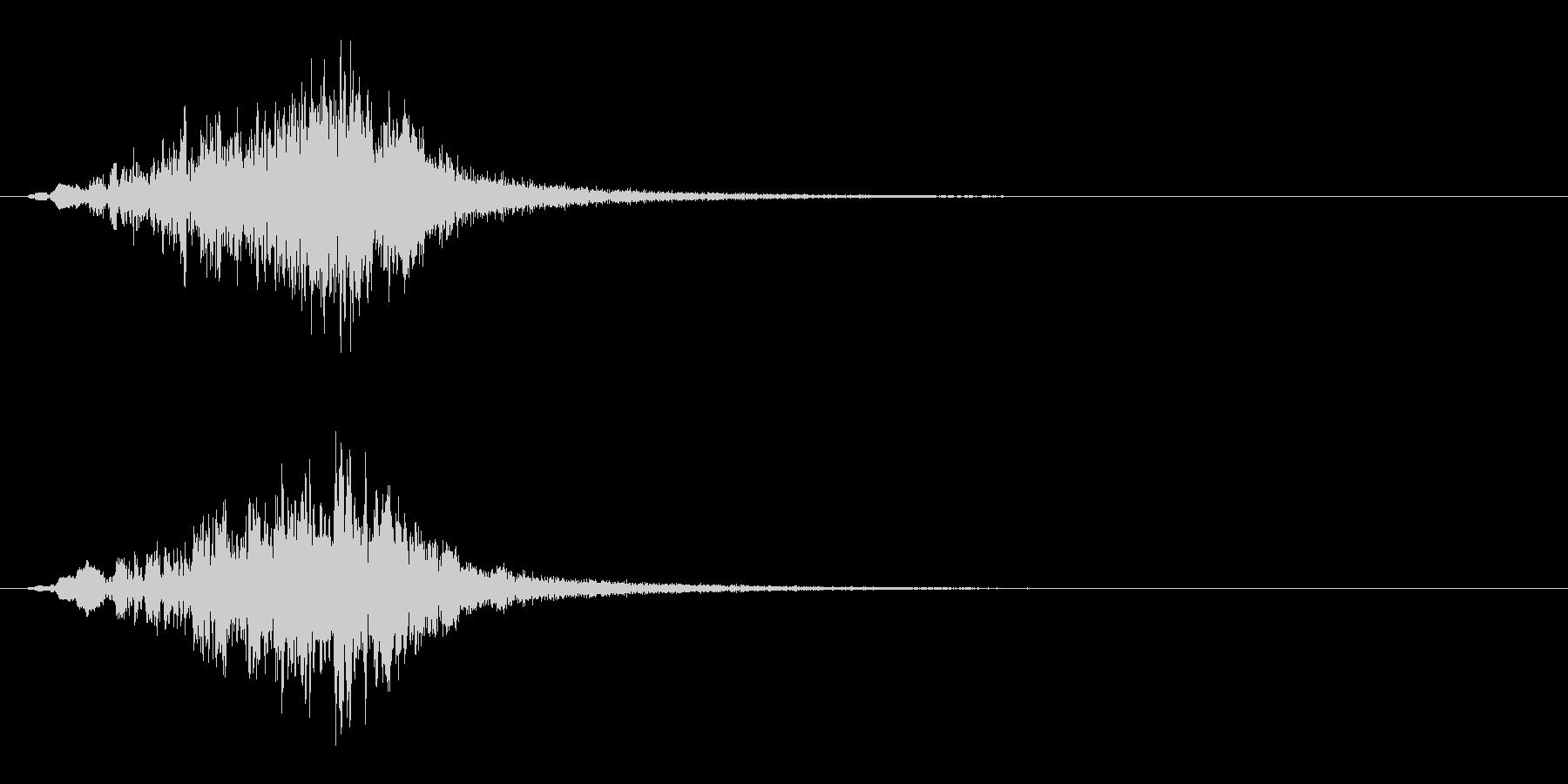 不気味なバズトーンヒューシュスティンガーの未再生の波形