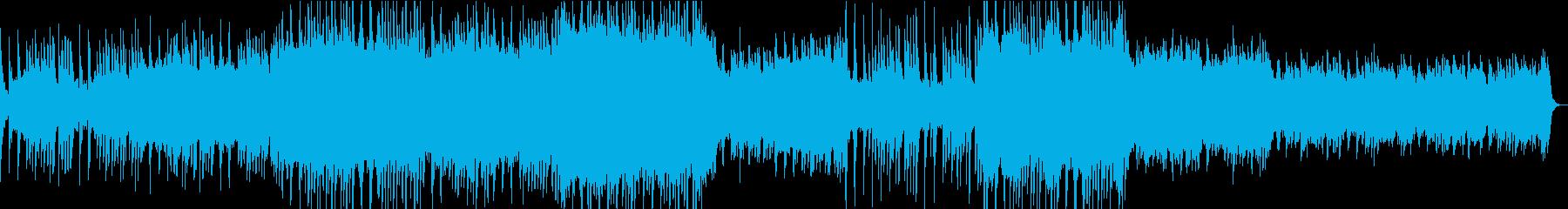 3拍子シンセアンビエントミュージックの再生済みの波形