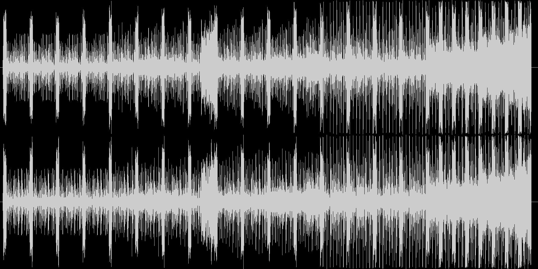 不穏な雰囲気から何かが始まりそうなBGMの未再生の波形