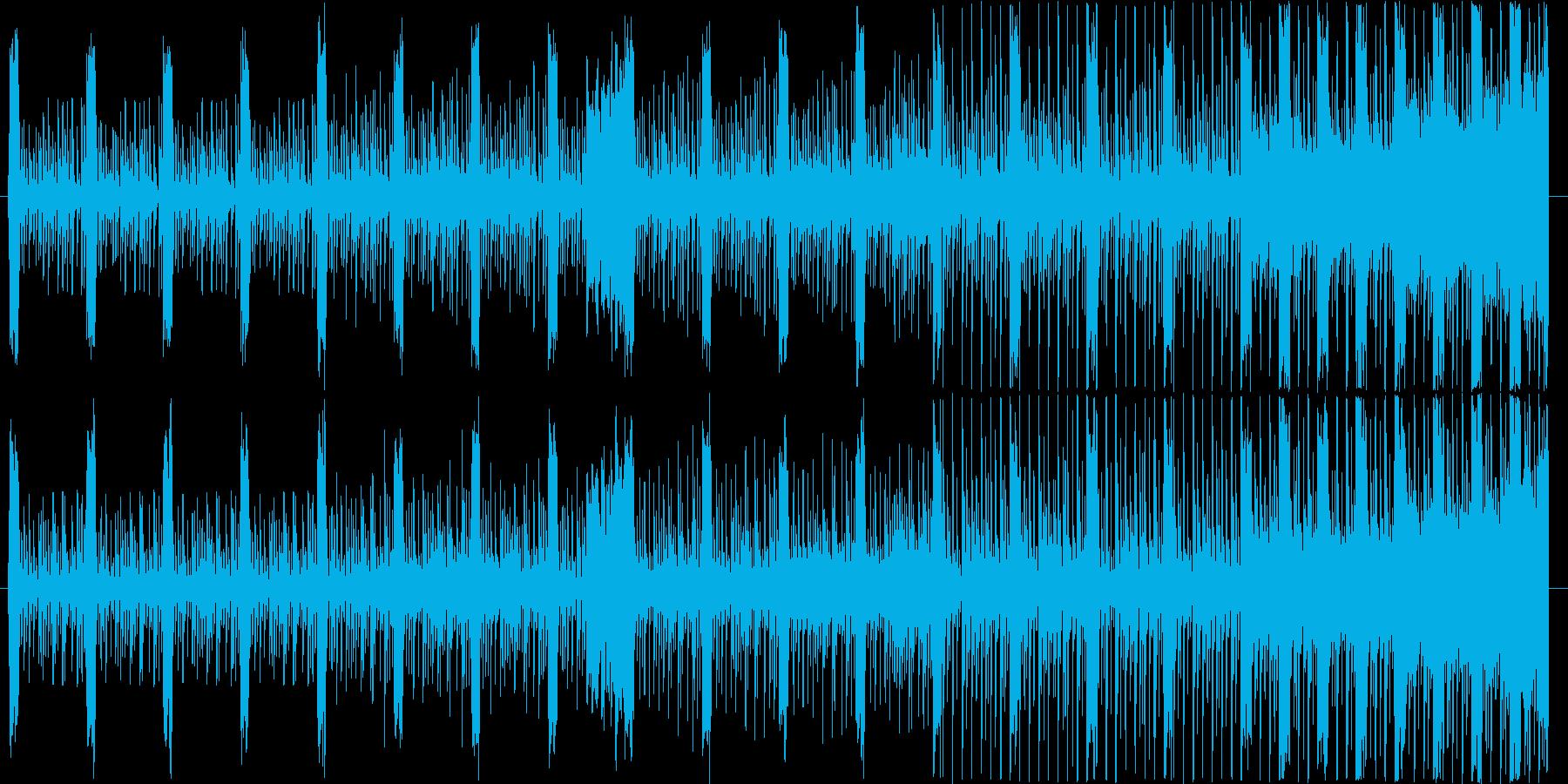 不穏な雰囲気から何かが始まりそうなBGMの再生済みの波形
