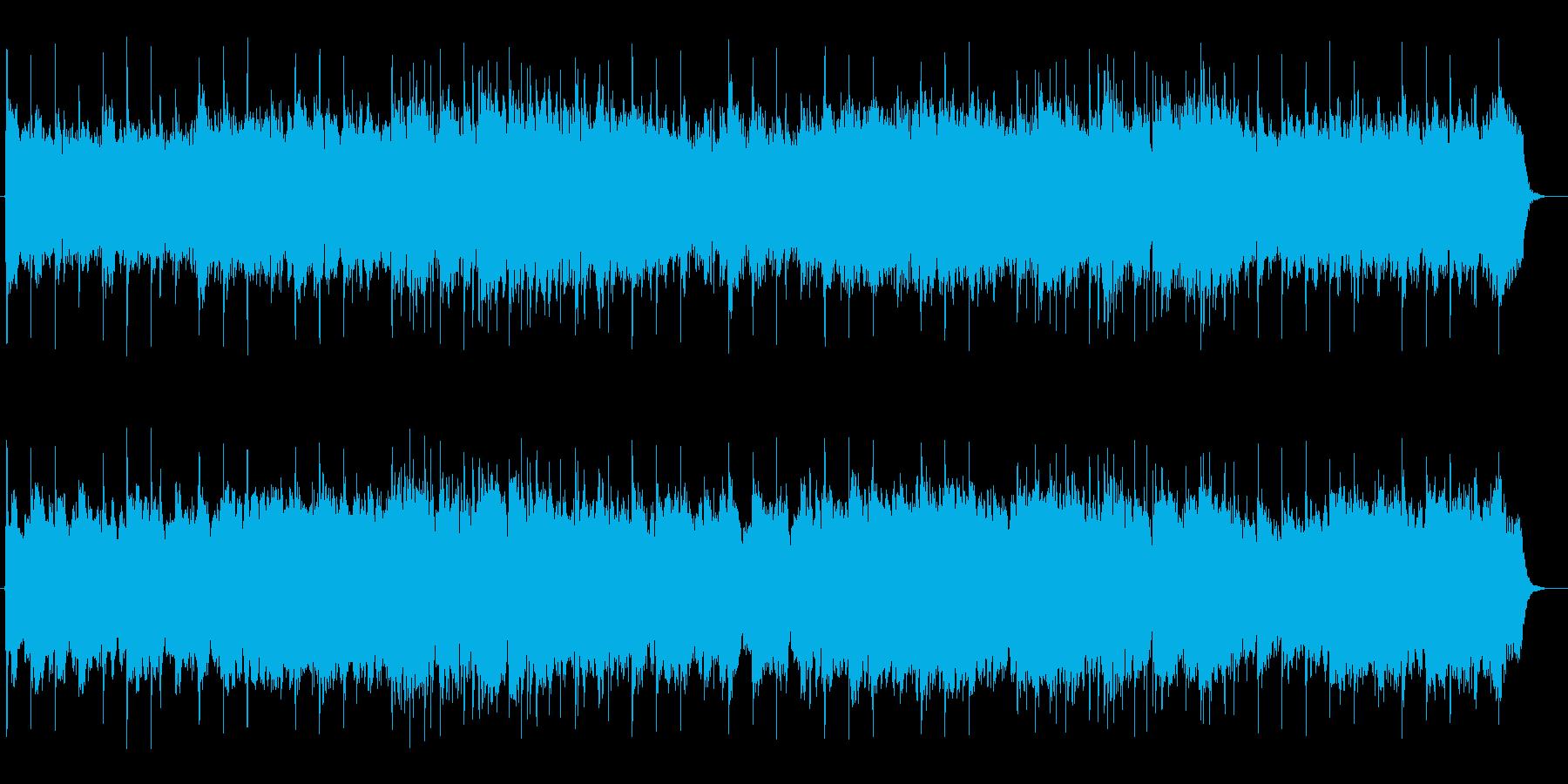 広がりのある穏やかなスローテンポな曲の再生済みの波形