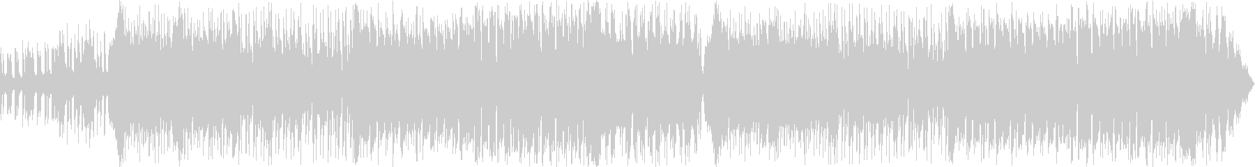 EDM調の激しいバトルシーンの未再生の波形