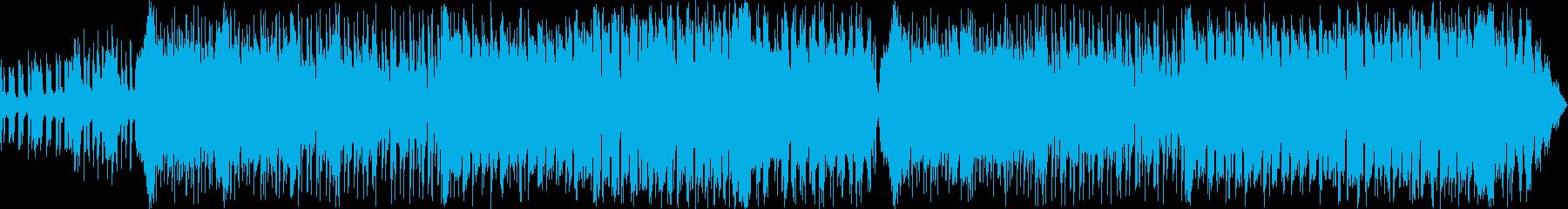EDM調の激しいバトルシーンの再生済みの波形