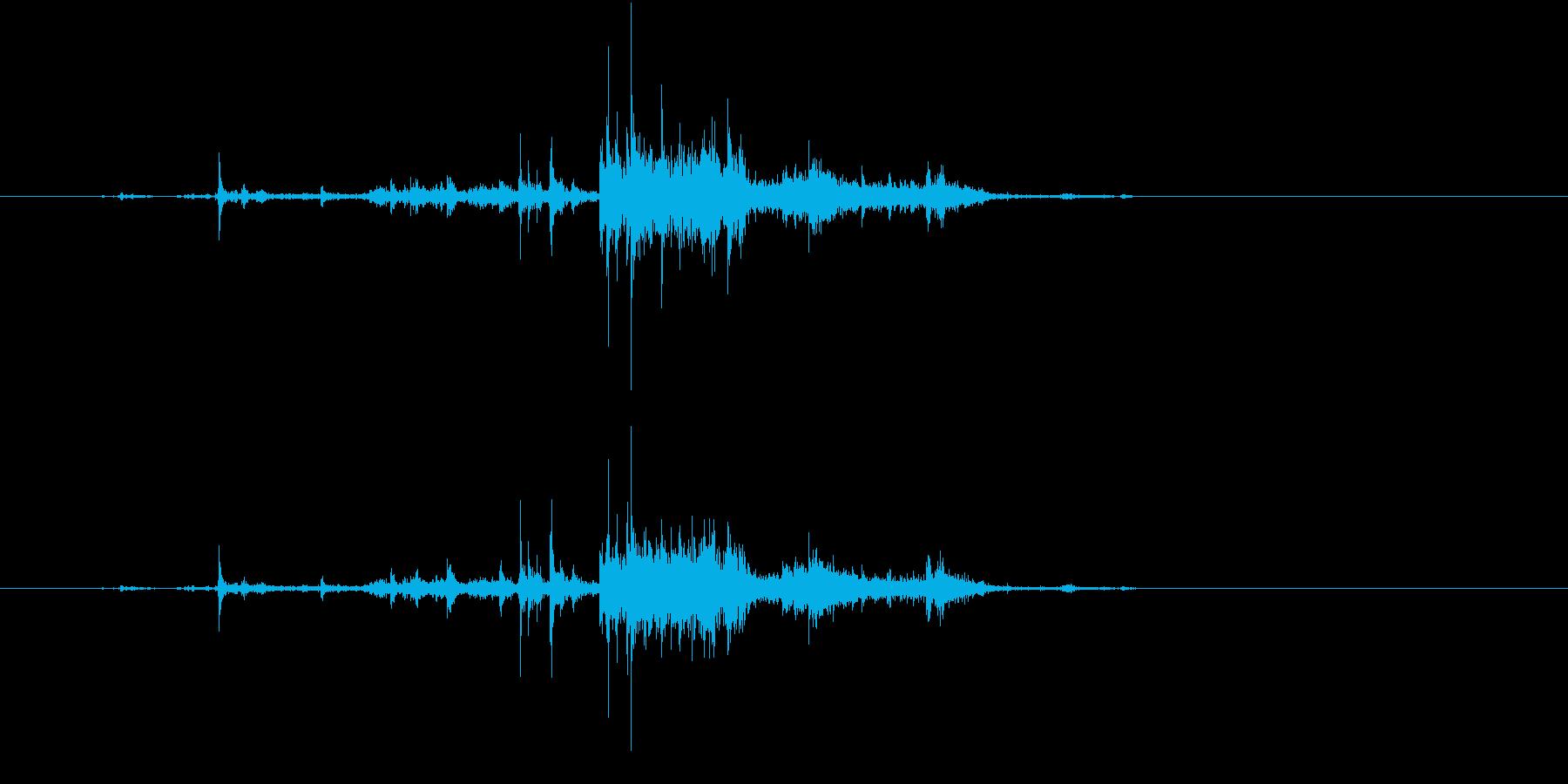 【生録音】ゴミの音 11 放り投げるの再生済みの波形