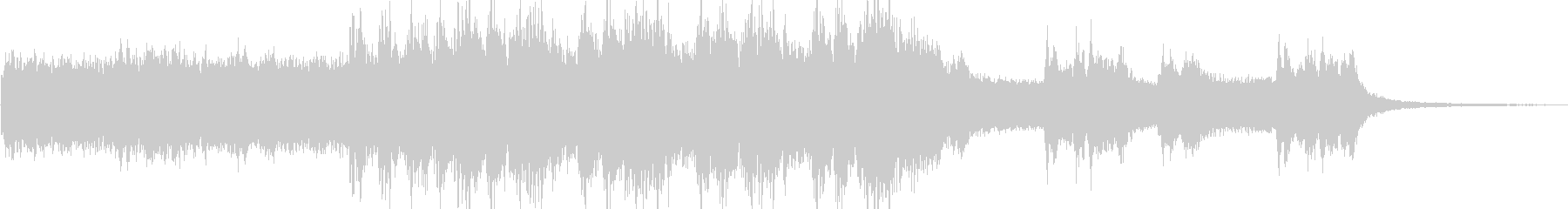 ゲーム音楽の雰囲気を抑揚したような楽曲の未再生の波形