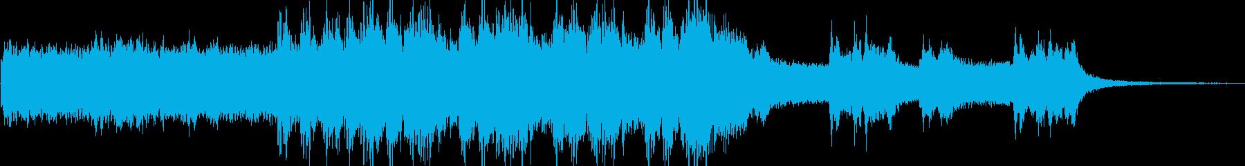 ゲーム音楽の雰囲気を抑揚したような楽曲の再生済みの波形