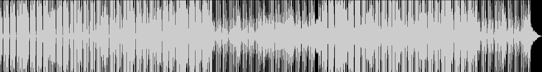 クールな雰囲気のハウスミュージックの未再生の波形