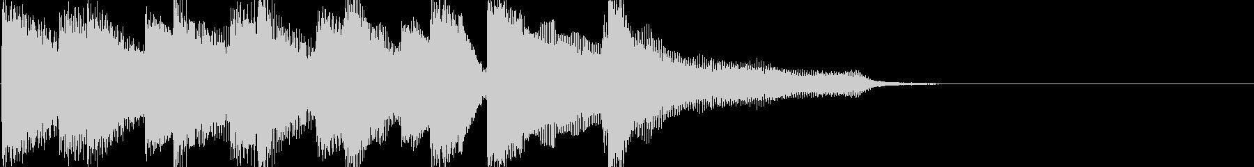 ウキウキピアノの軽快なジングルの未再生の波形