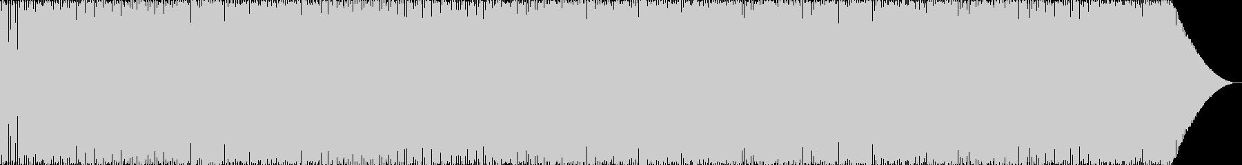 中華風の軽快なBGMの未再生の波形
