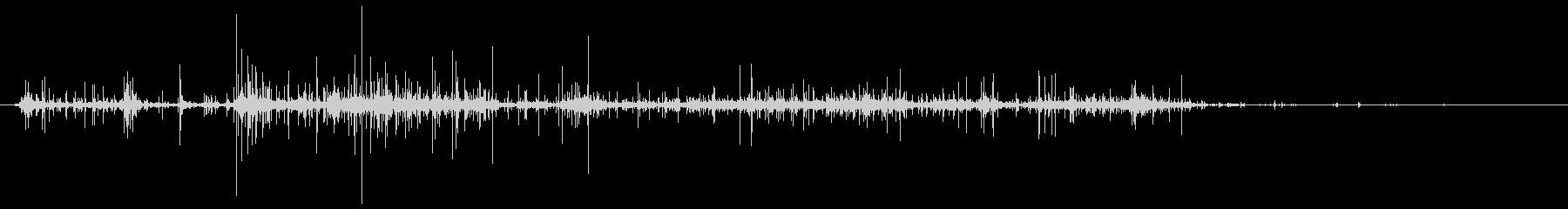 ポテトチップス袋の音の未再生の波形