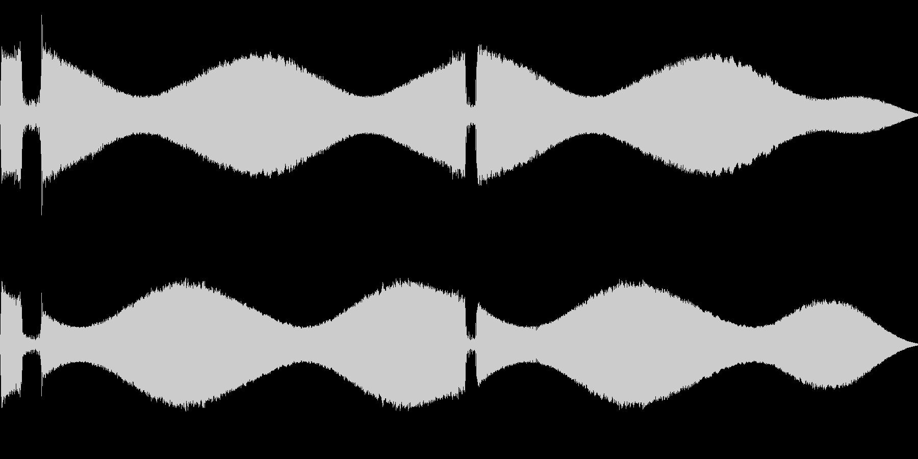 [効果音]ピポパポ、着信音の未再生の波形