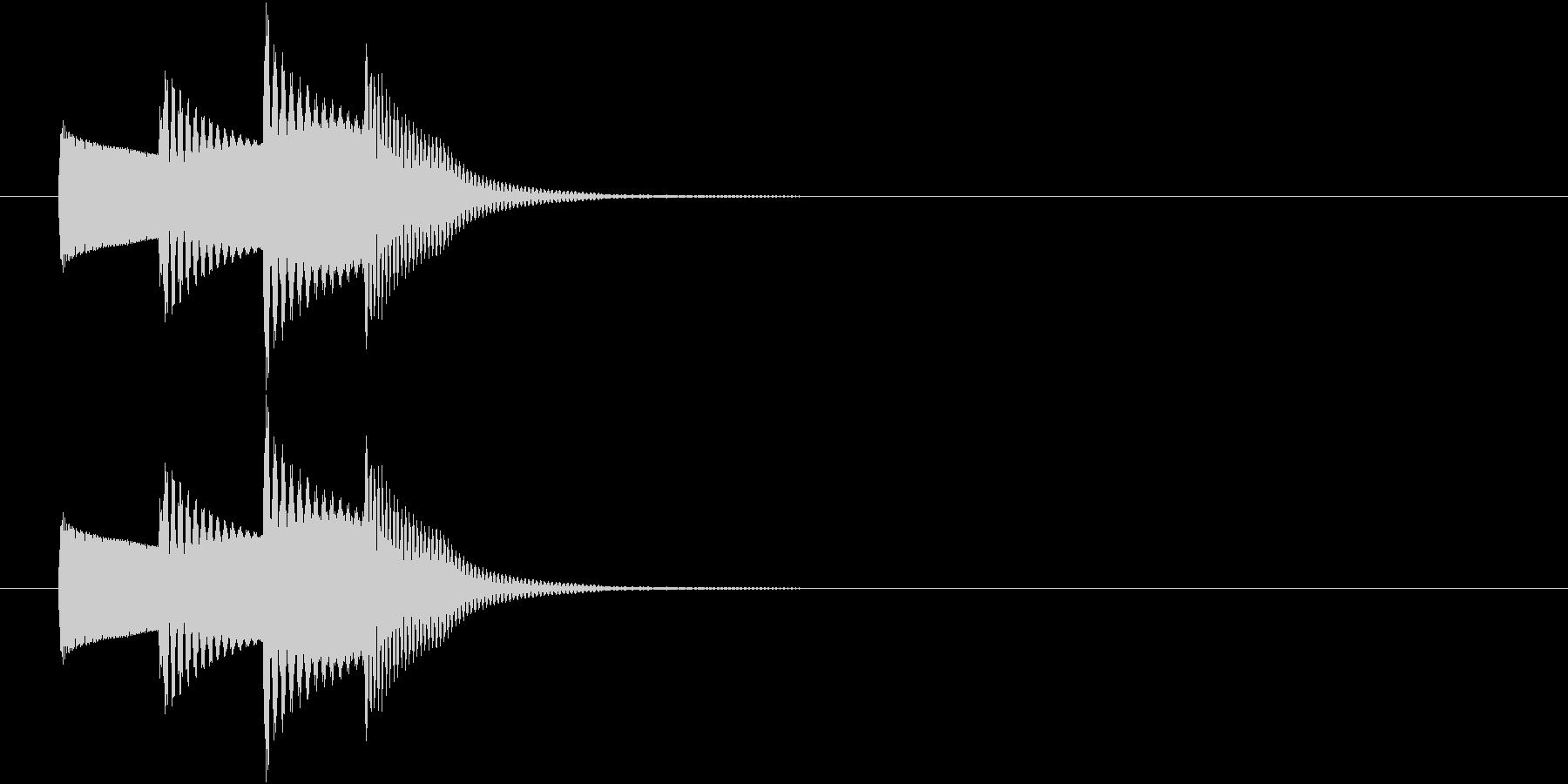 情報SE 一口メモ ワンポイントの未再生の波形