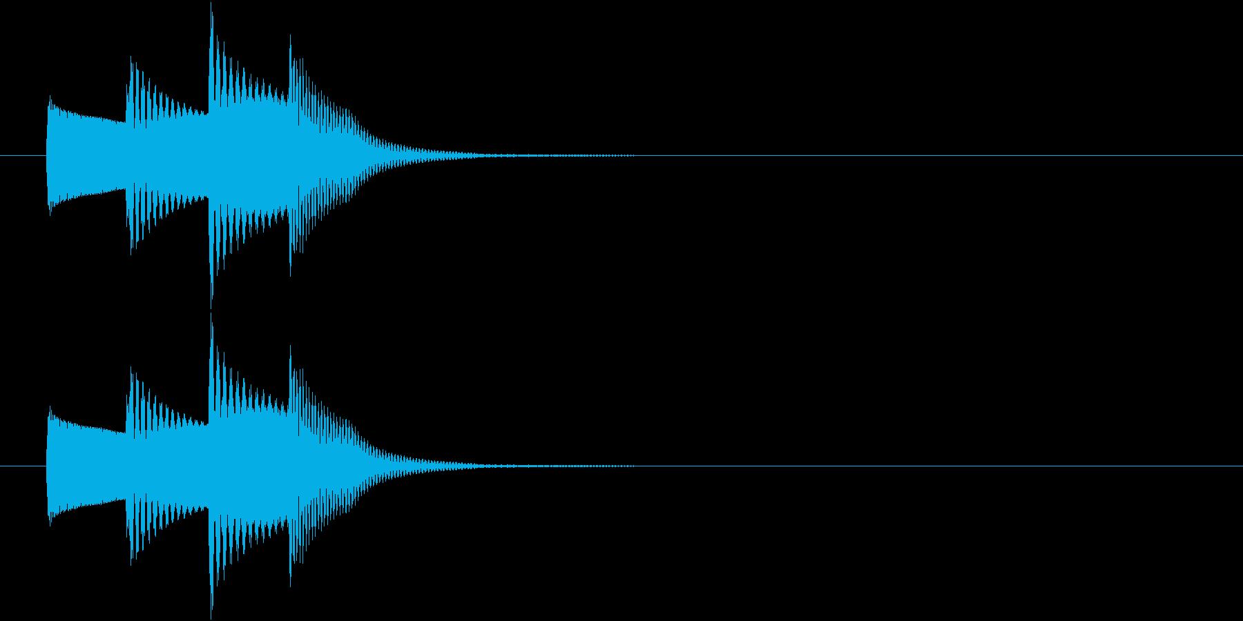 情報SE 一口メモ ワンポイントの再生済みの波形