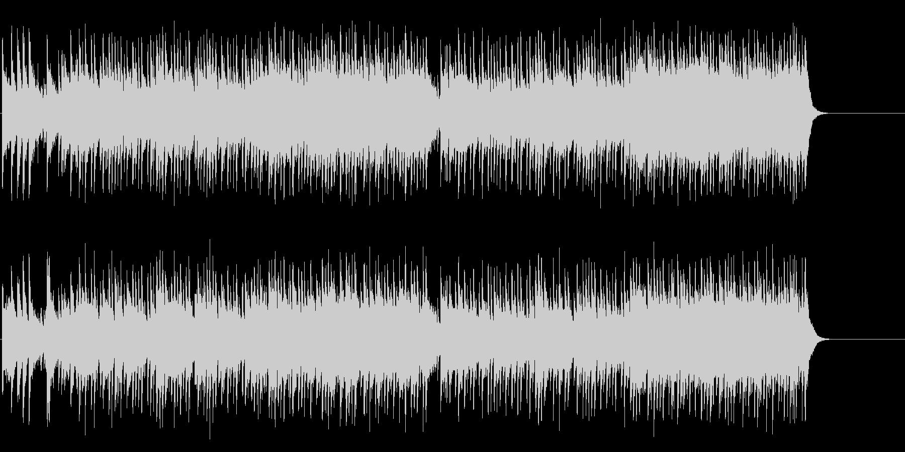 爽快なオープニング(イントロ~A~B…)の未再生の波形