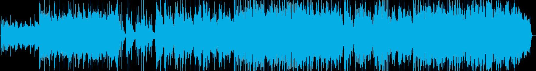 一人の夜シンセサイザー系サウンドの再生済みの波形