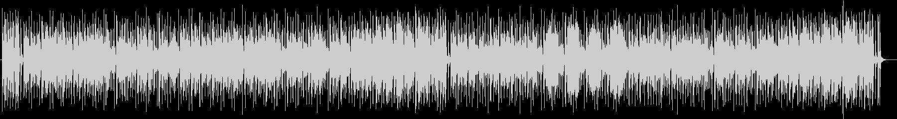 ふんわりしたイメージのコミカル曲の未再生の波形