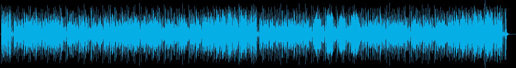 ふんわりしたイメージのコミカル曲の再生済みの波形