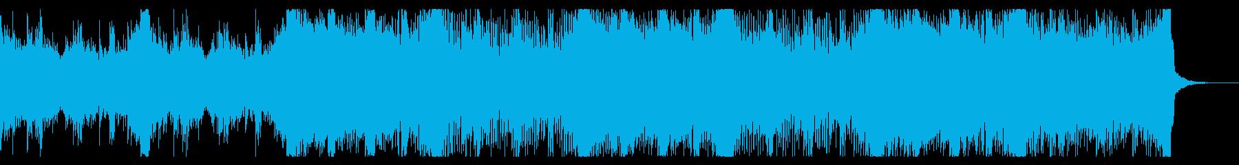 電子的で緊迫したテクスチャIDMの再生済みの波形