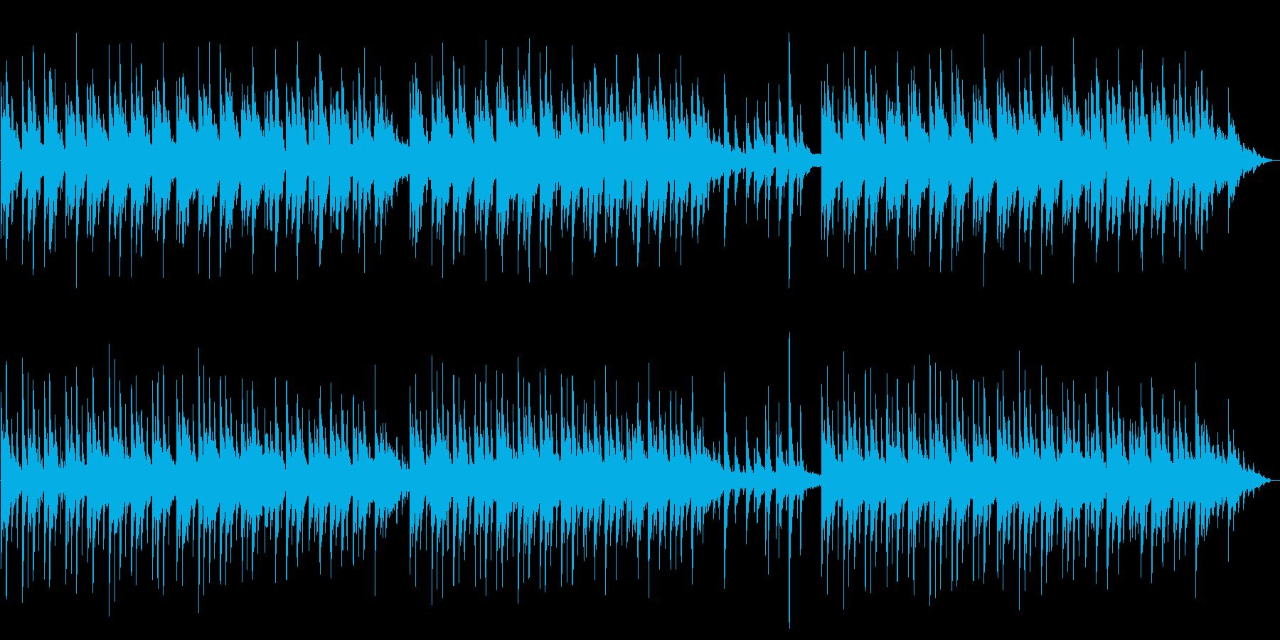 【ぼんやり】静かな森のような癒しピアノの再生済みの波形