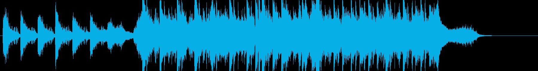 多幸感溢れるウェディング風ポップスの再生済みの波形