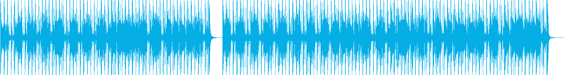 おしゃれなベースの軽快なポップスの再生済みの波形