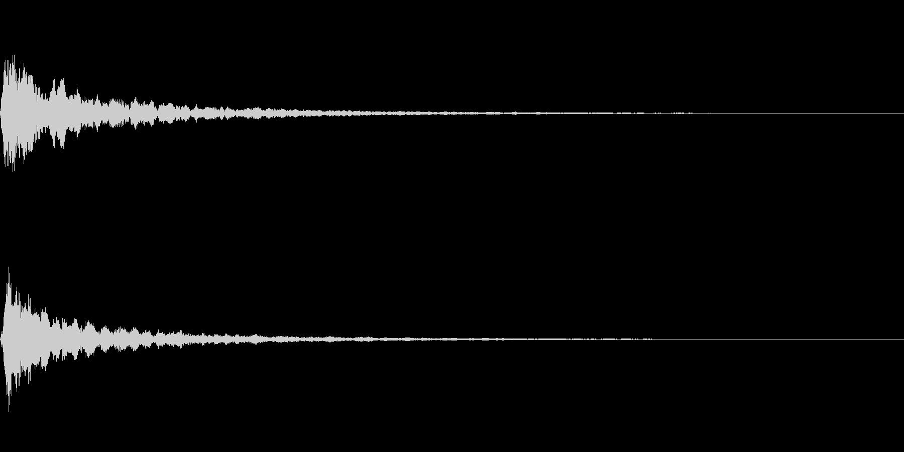明るい音質のマイナー系テロップ音の未再生の波形
