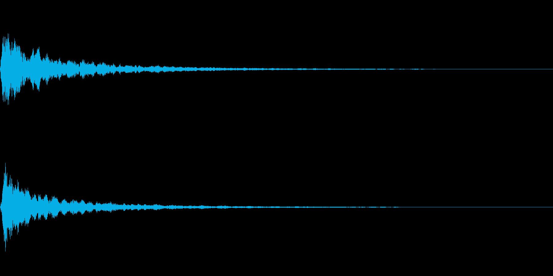 明るい音質のマイナー系テロップ音の再生済みの波形