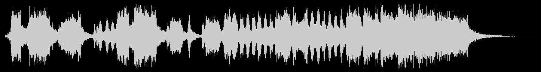 競馬のファンファーレ風のジングルの未再生の波形