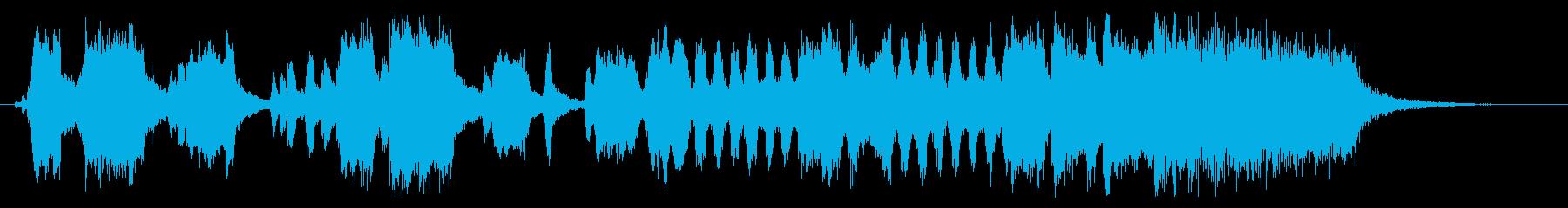 競馬のファンファーレ風のジングルの再生済みの波形
