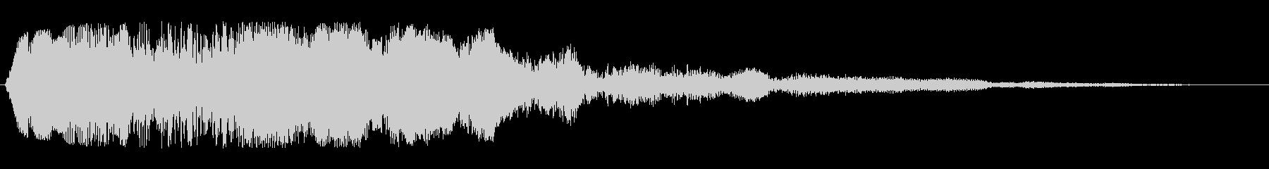 フゥーンというジングル系スペース音の未再生の波形