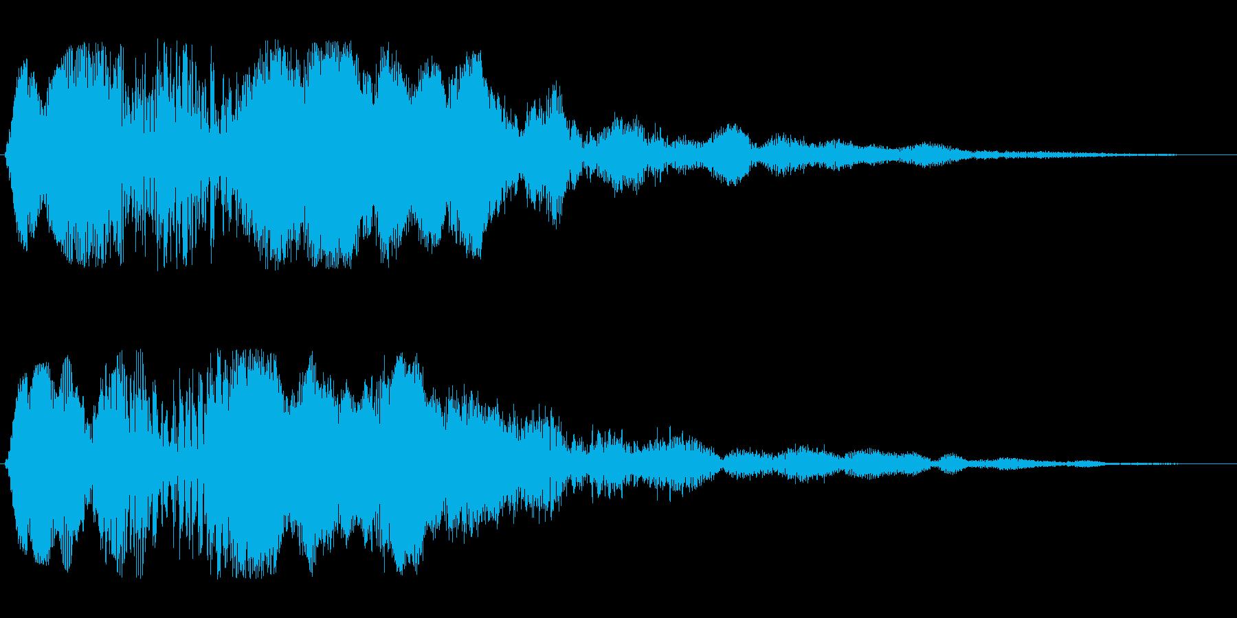 フゥーンというジングル系スペース音の再生済みの波形