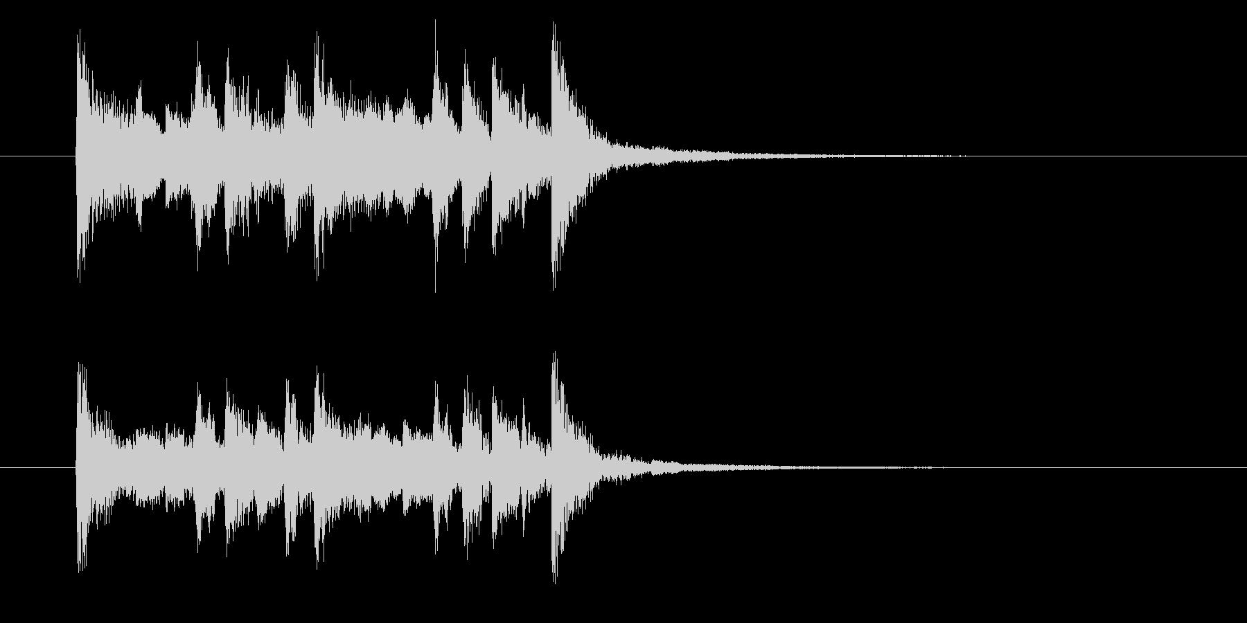 フュージョンとポップスのジングル曲の未再生の波形