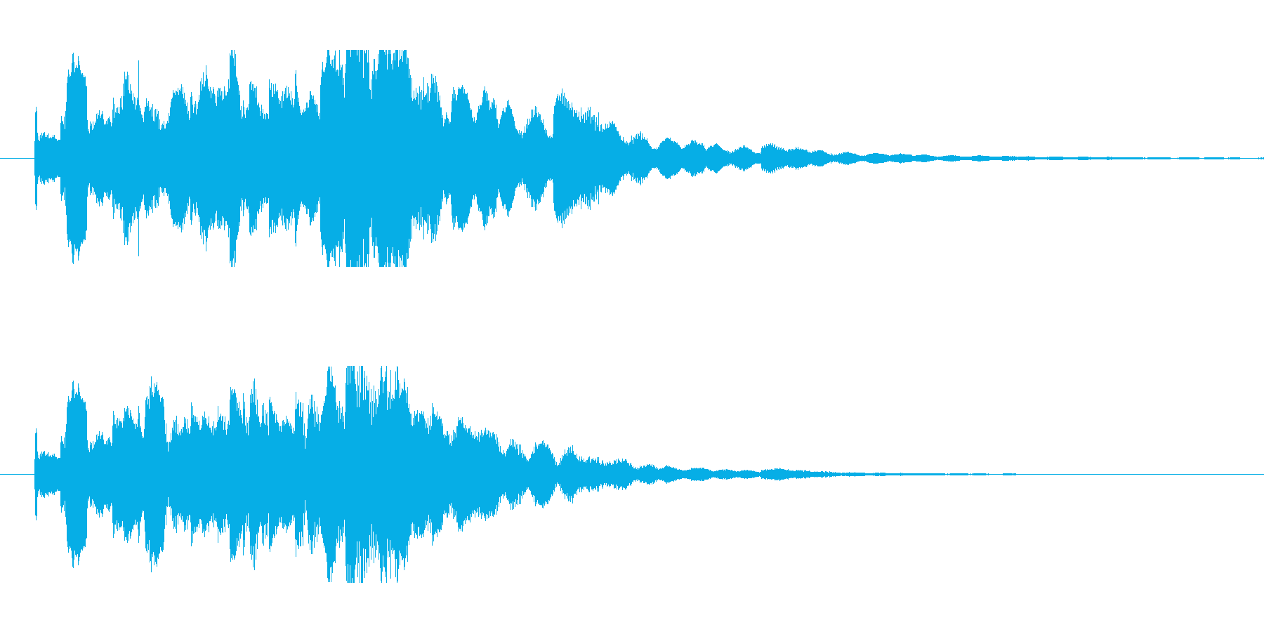 場面転換---画面切り替えの再生済みの波形