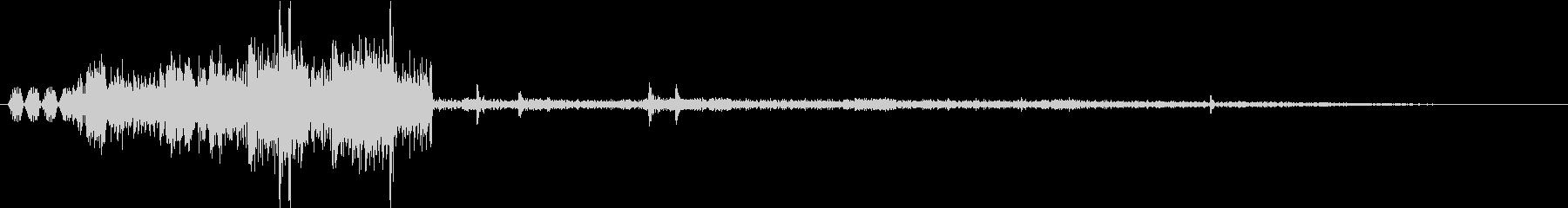 環境音 無線 通信 トランシーバーONの未再生の波形