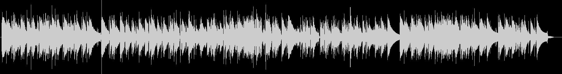 唱歌のジャズピアノの未再生の波形