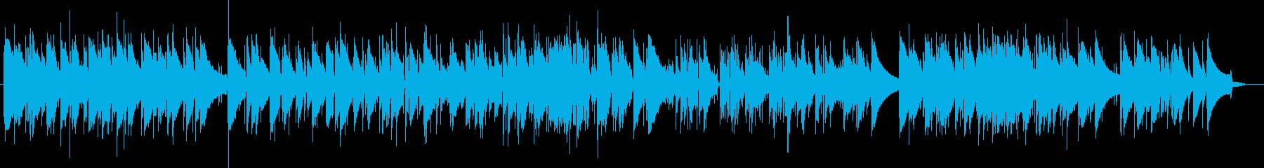 唱歌のジャズピアノの再生済みの波形