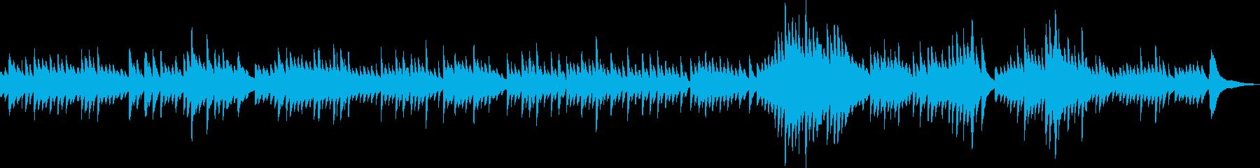 美しくて悲しいピアノBGMの再生済みの波形