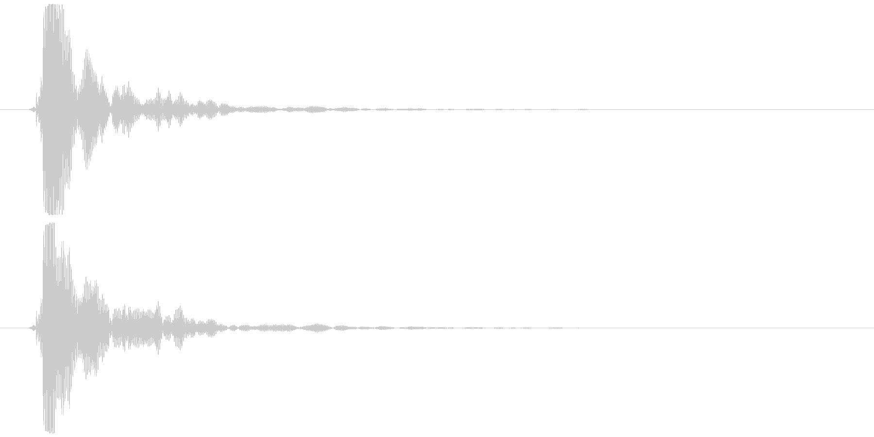 ポン (抜くような音) 明るめの未再生の波形