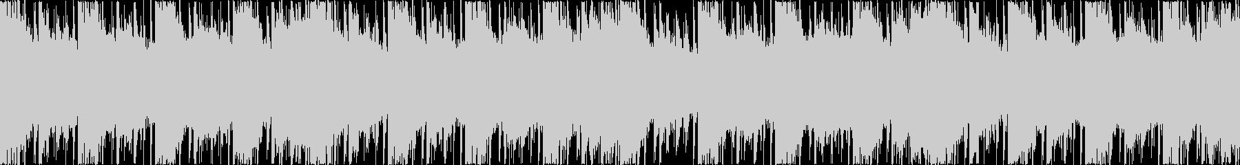 エレクトロニカ風BGM(ループ)の未再生の波形