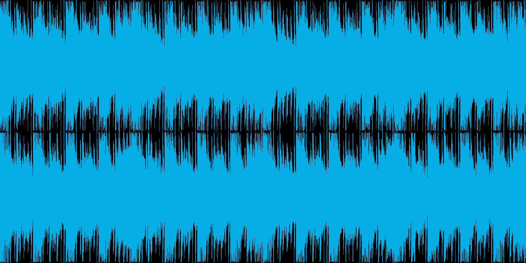 エレクトロニカ風BGM(ループ)の再生済みの波形