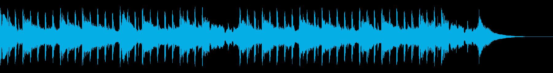 科学音楽(ショート)の再生済みの波形