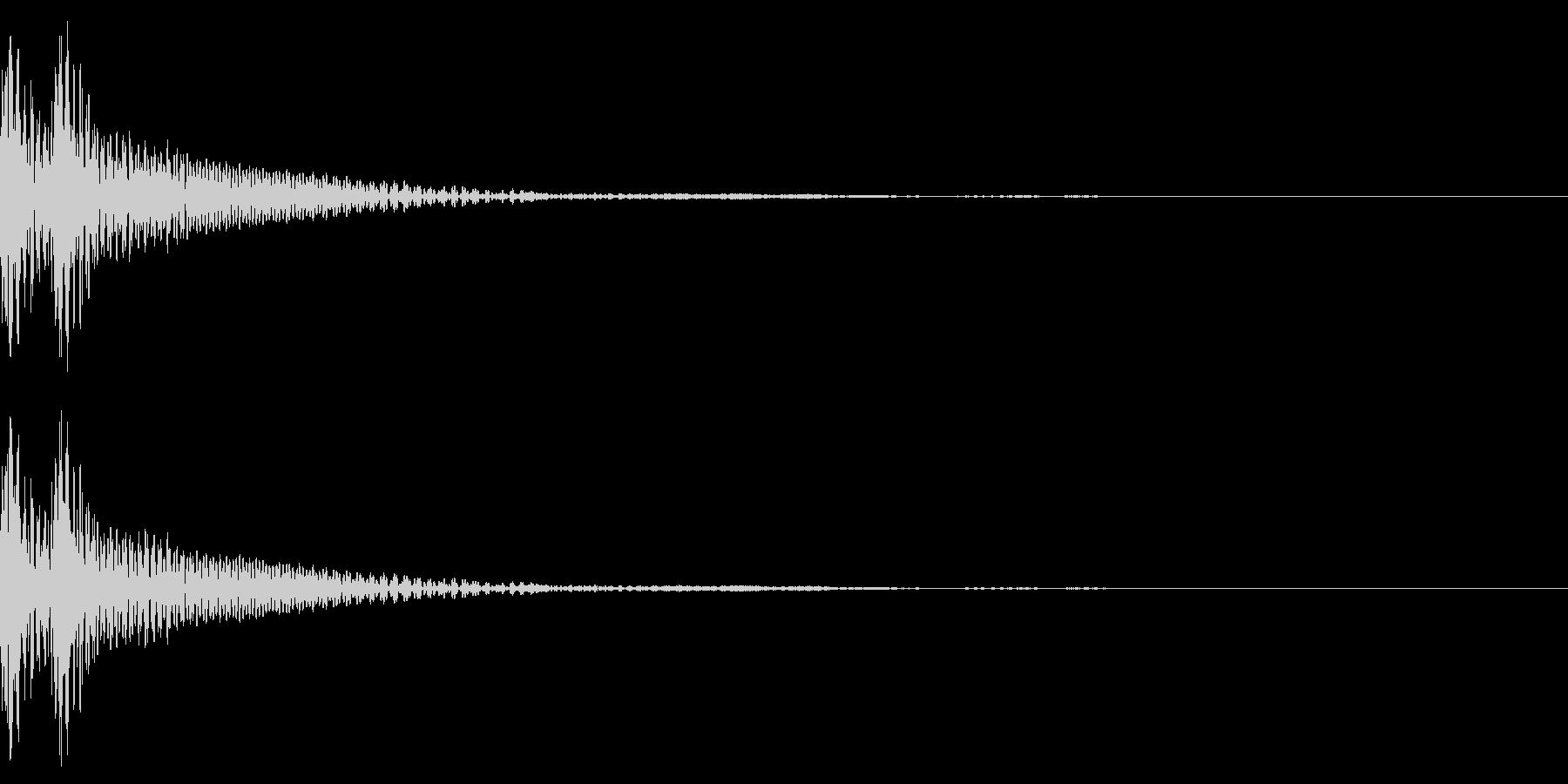 和風「ドドン」大太鼓+大鼓 速めの未再生の波形